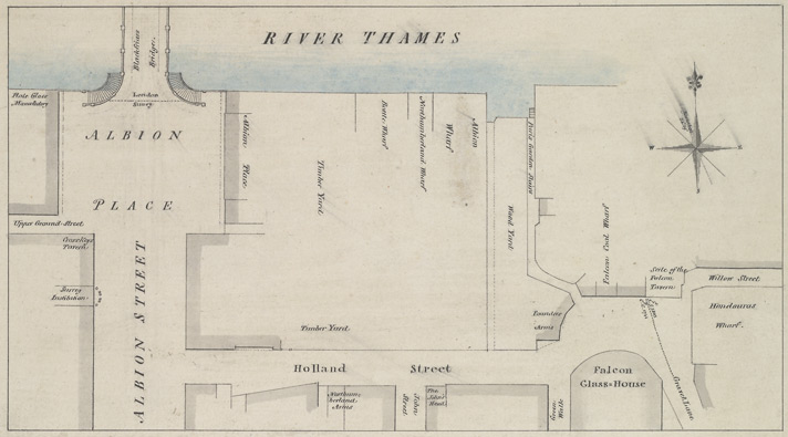 [A plan of Albion Place, Blackfriars Road]